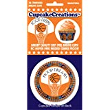 CupcakeCreations BKCUP-8981 Standard Cupcake Baking Cup, Basketball, 32-Pack