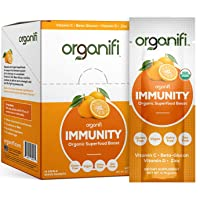 Organifi: Immunity - Organic Superfood Immunity Support - 14 Single Serve Packets - Help Nourish and Feed Cells - Natural Immune System Support - Vitamin C, D & Zinc