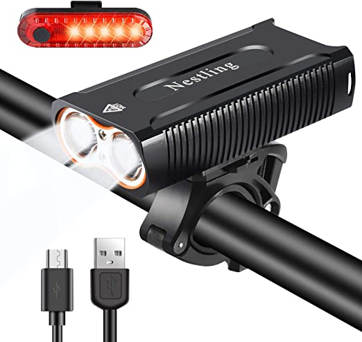 2000 Lumen XX2 T6 LED USB Rechargeable Bicycle Bright Front Headlight MTB AE