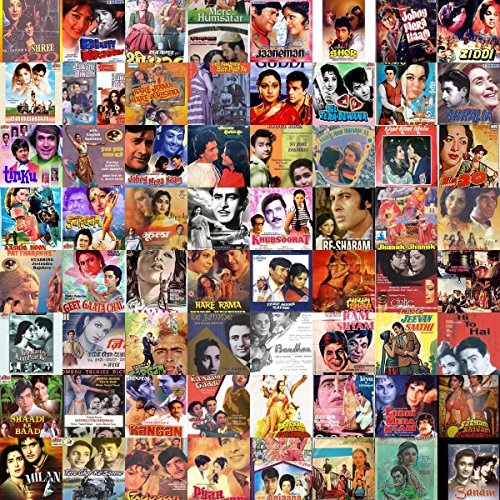 - Gifts Delight Laminated 22x22 Poster: at The Edge Collage of Old Hindi Movie Posters Based on a Song