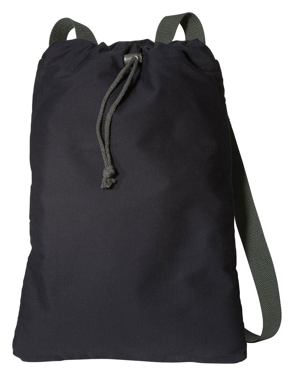 Port Authority Canvas Cinch Pack, black/charcoal, One Size