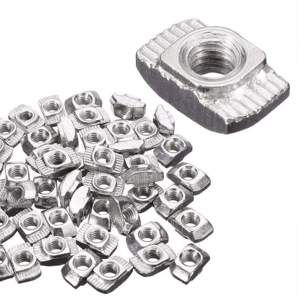 50 Pcs 2020 série M4 Écrou T Fente T Bloc Écrou Coulissant pour Profilé En Aluminium Modèle Fente YunLi