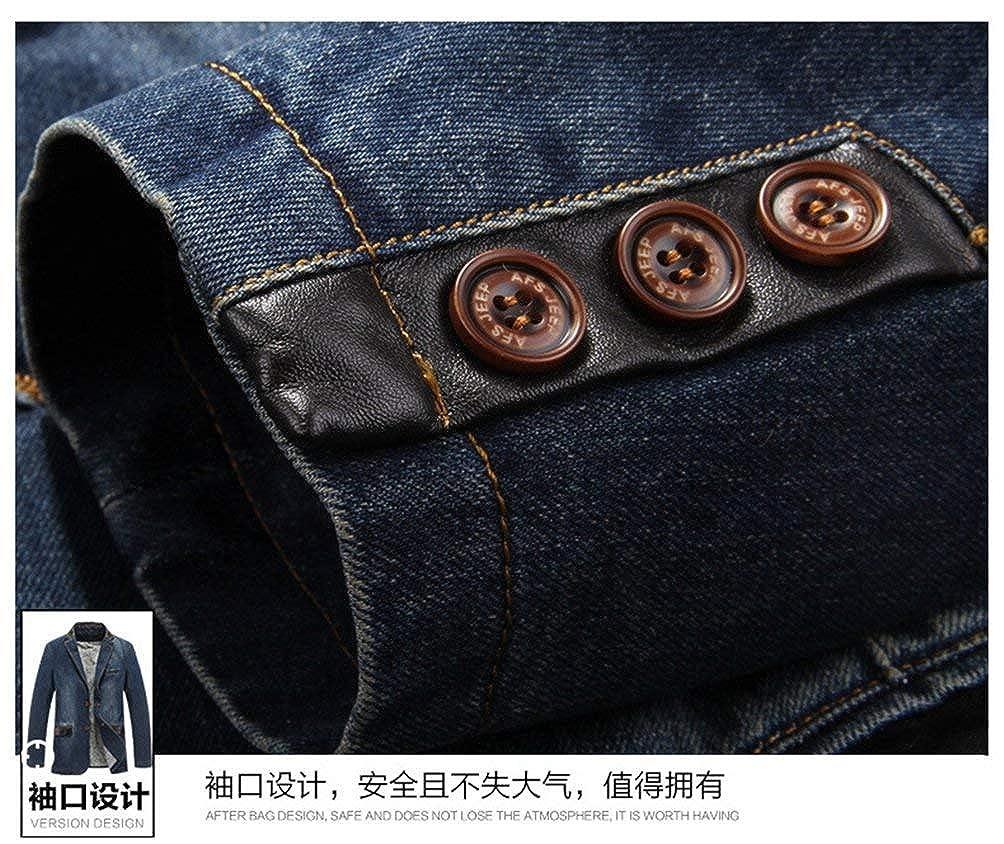 Herren Freizeit Klassisch Denim Denim Denim Baumwolle Loose Blazer Jacke Retro Jean Männer Ntel Men's Cowboy Suit Jacket B07HD3ZHQ6 Anzüge Zuverlässiger Ruf 69a5d3
