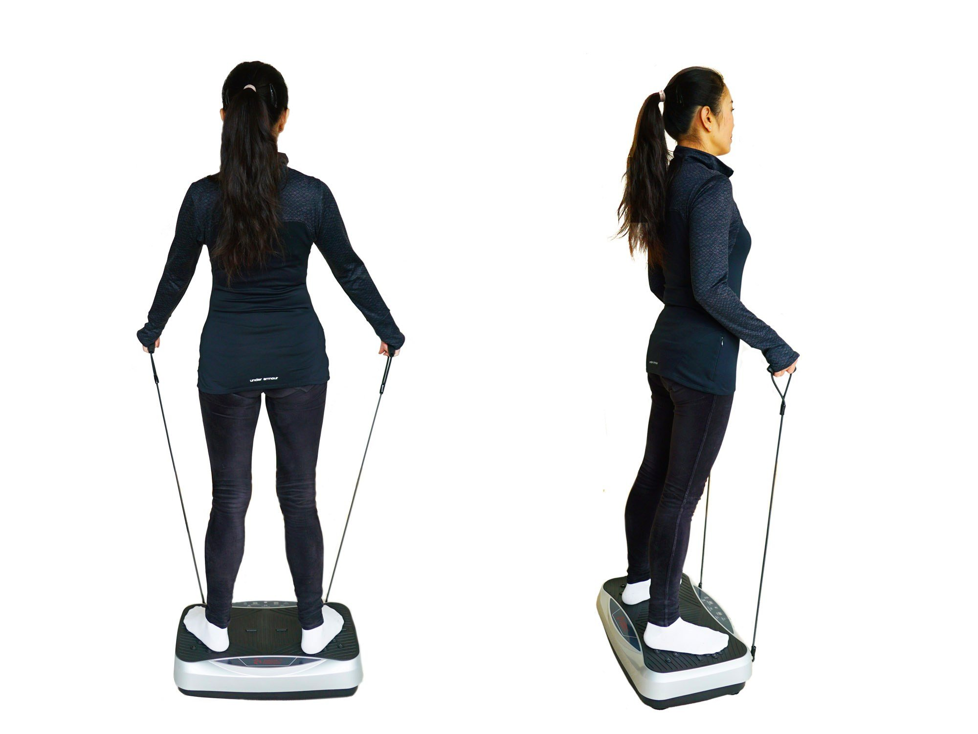 VT Full Body Vibration Platform Fitness Machine - Pivotal Oscillation - Compact Size - Quiet - Timer - 60 Speed Level, VT017 by VT VIBRATION THERAPEUTIC (Image #5)