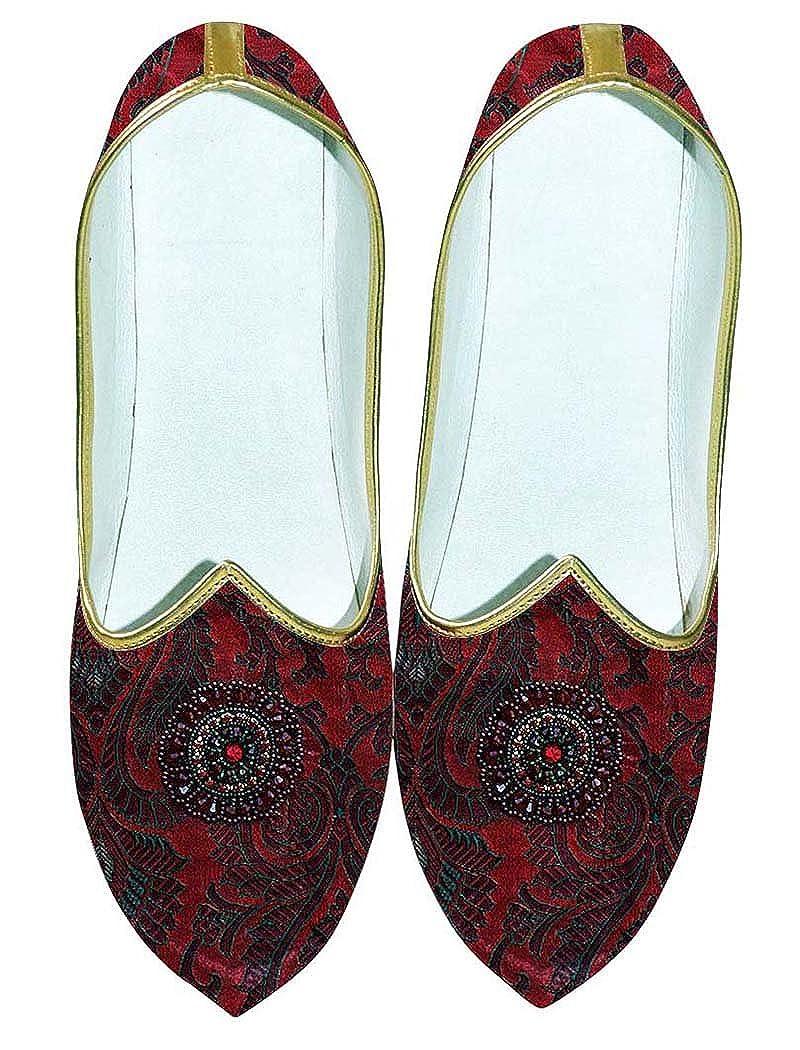 INMONARCH Granate Hombres Boda Zapatos Bordado MJ0701 44 EU