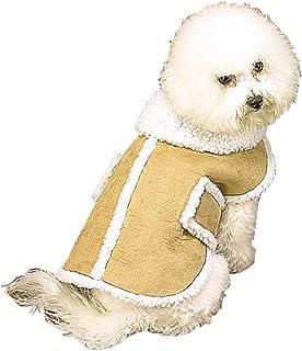 Amazon.com : FAUX SHEARLING DOG COAT - MEDIUM : Pet Coats : Pet