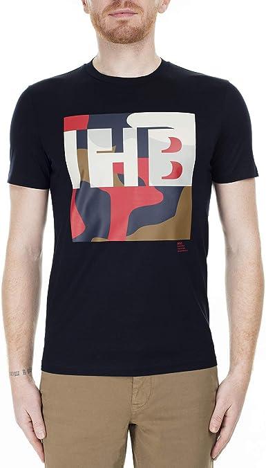 Hugo Boss - Camiseta de algodón con monograma y estampado de camuflaje: Amazon.es: Ropa y accesorios