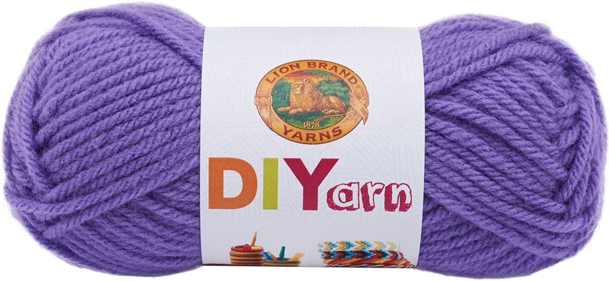 Skeins Brand New 3 Lion Brand DIYarn Lilac Color Yarn Lot of Three