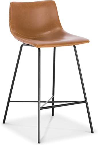 Poly and Bark Paxton 24 Counter Stool, Set of 3 Tan