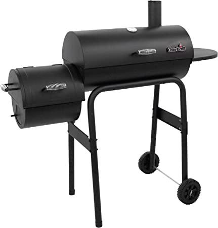 3 Level Summer BBQ Charcoal Grill Smoker Black For Grilling Roasting Smoking