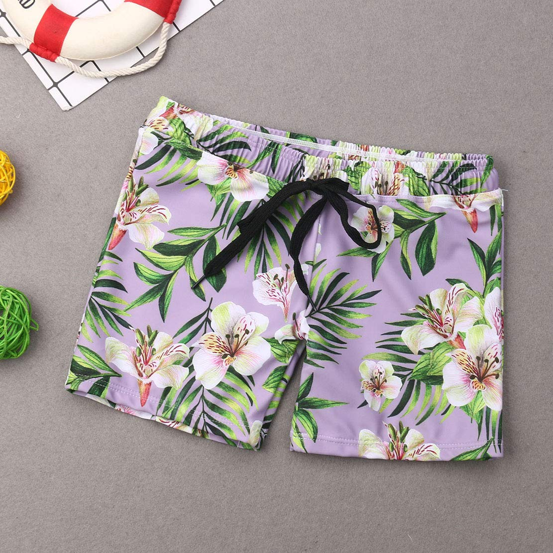 Family Matching Swimwear Mom/&Girl Two Piece Halter Tropical Bikini Parent-Child Beachwear Leaf Floral Print Swimsuit