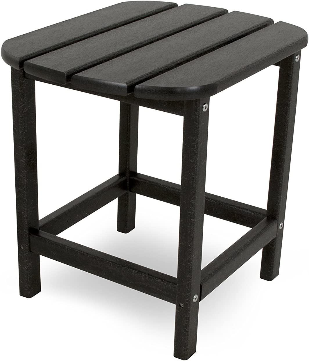 "POLYWOOD SBT18BL South Beach 18"" Outdoor Side Table, Black"
