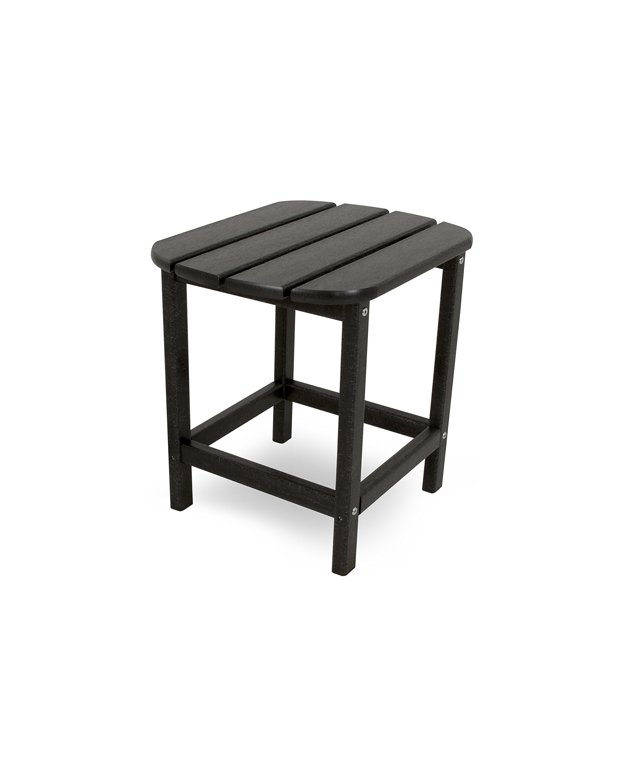 POLYWOOD SBT18BL South Beach 18'' Outdoor Side Table, Black
