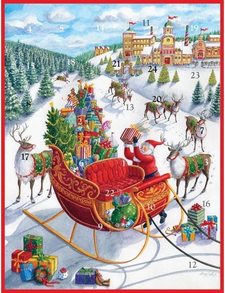 Caspari Oh Christmas Tree Advent Calendar 1 Each