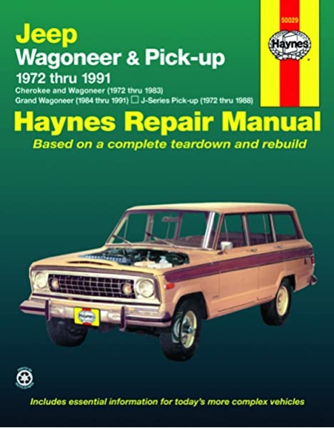 1984-2001 Jeep Cherokee Wagoneer Comanche Haynes Repair Service Shop Manual 5400