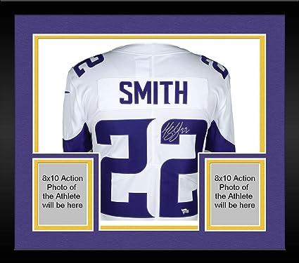 huge discount b29e9 5f6a5 Framed Harrison Smith Minnesota Vikings Autographed White ...