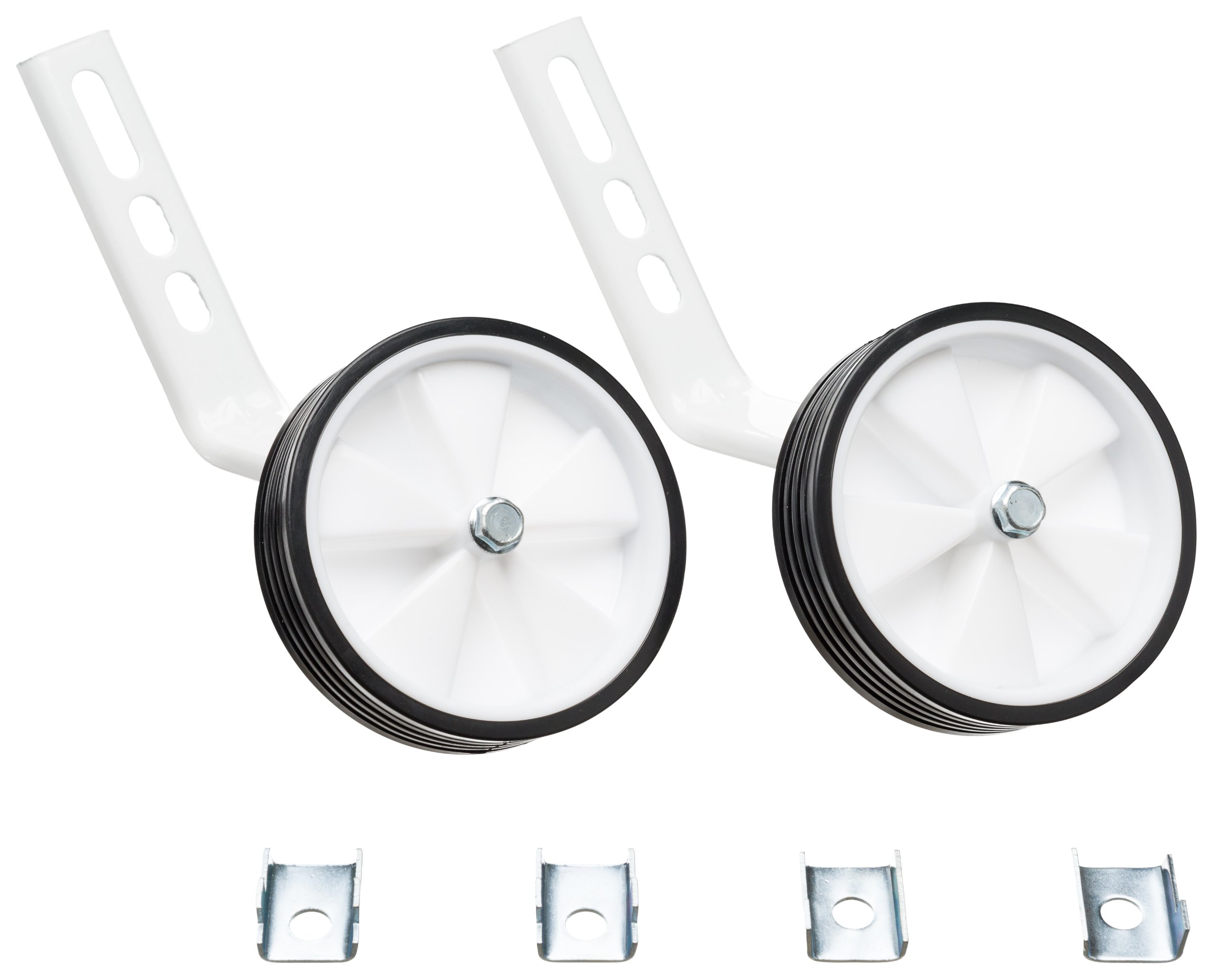 BIKESTAR® Universal Stabiliser Kit for 14/16inch Kids Bikes | Suitable for mounting on the rear axle ONLY! | Colour White