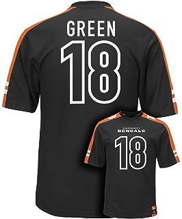 Majestic A. J. Green  18 Cincinnati Bengals NFL Mens Hashmark Jersey Black  Big   Tall Sizes f35ddf567