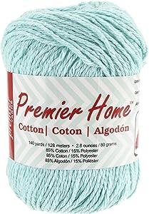 Premier Yarns 38-13 Home Cotton Yarn, Solid Pastel Blue