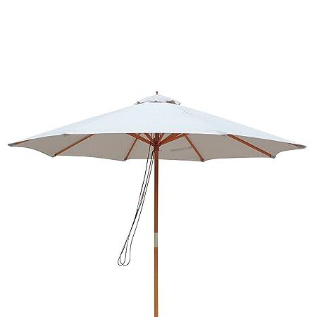 Island Umbrella NU5426CH Tranquility Patio Market Umbrella, Champagne