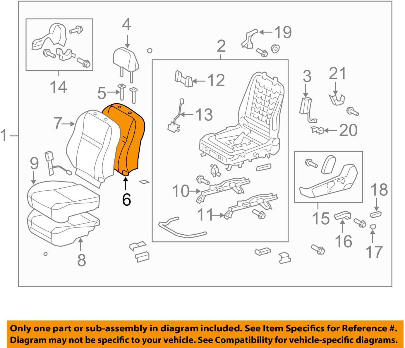 TOYOTA Genuine 71552-12460 Seat Back Pad