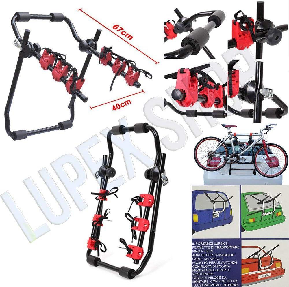 Portabici posteriore per auto PBLS01 fino a 3 bici universale