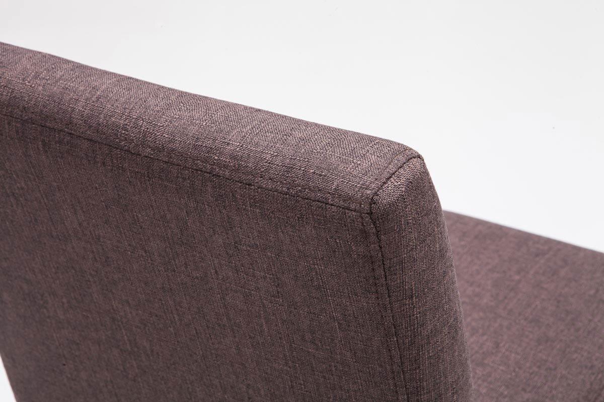 Clp sgabello alto bar alvin in tessuto e telaio in legno