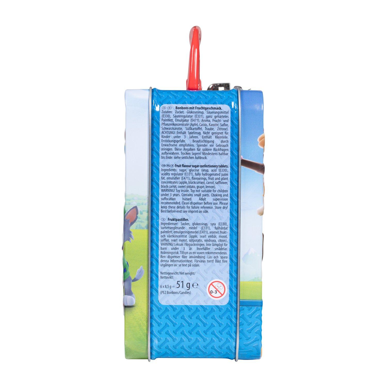 PEZ Maletitas de metal Paw Patrol(3 PEZ dispensadors + 6 PEZ caramelos): Amazon.es: Alimentación y bebidas
