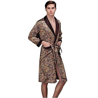 Papijam Mens Flannel Top and Fleece Bottom Sleepwear Pajama Set Gray XL