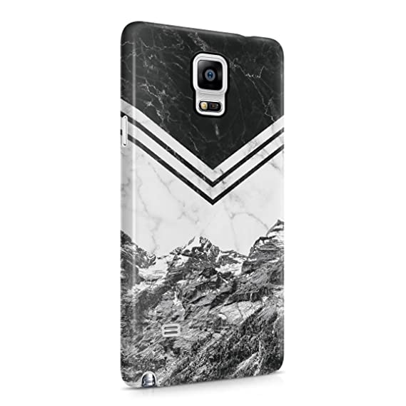 detailed look 29e3c 90e76 Icy Mountains White & Black Marble Blocks Hard Plastic Phone Case For  Samsung Galaxy Note 4