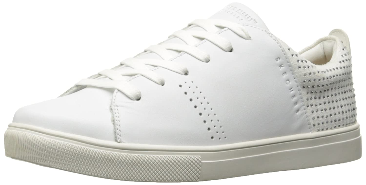 Skecher Street Women's Moda-Back Lit Smooth Fashion Sneaker, White