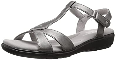 Grasshoppers Womens Rose Flat SandalPewter6