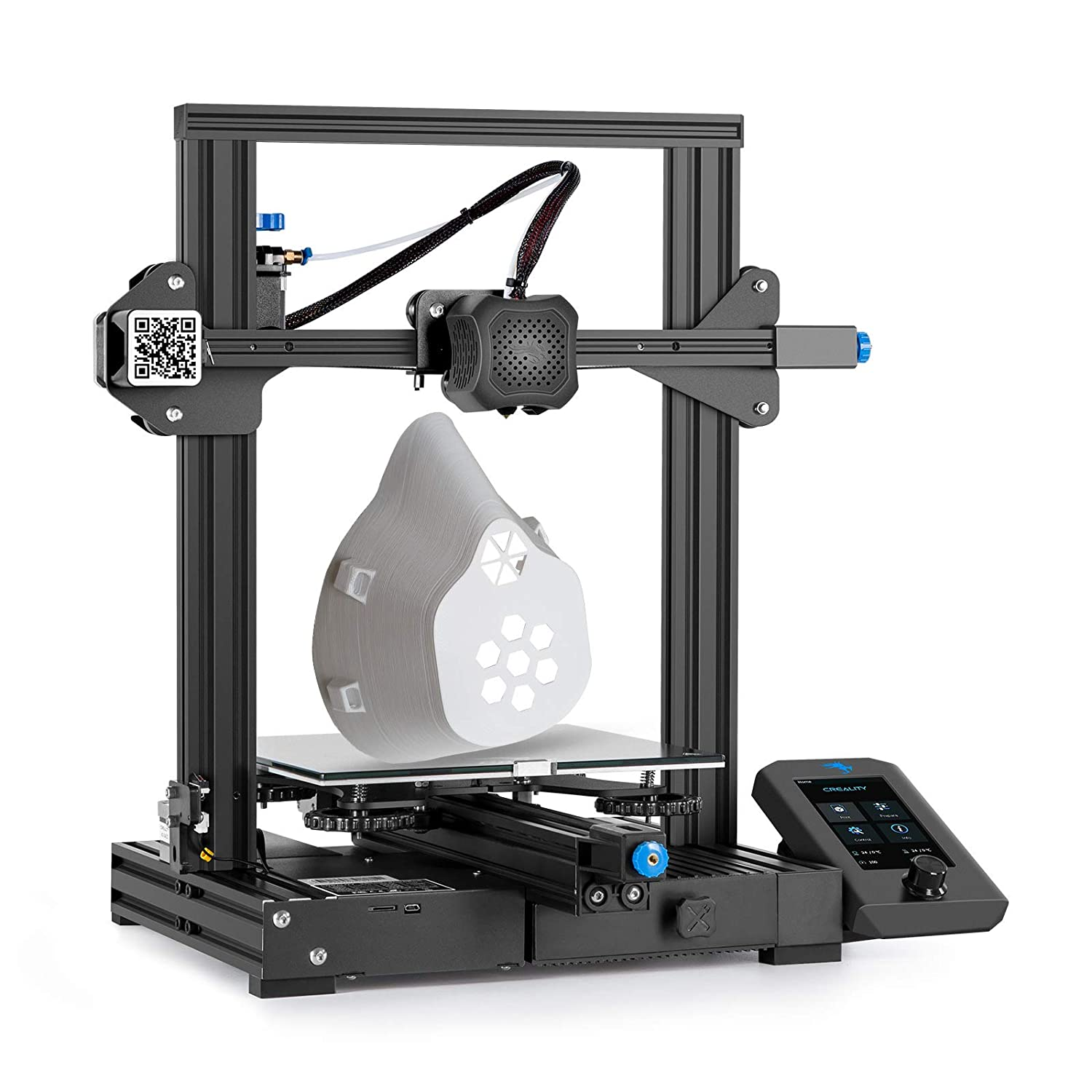 Creality Ender 3 V2 3D Printer by Rabate with Silent Motherboard Carborundum Glass Platform and Resume Printing Function 220x220x250mm