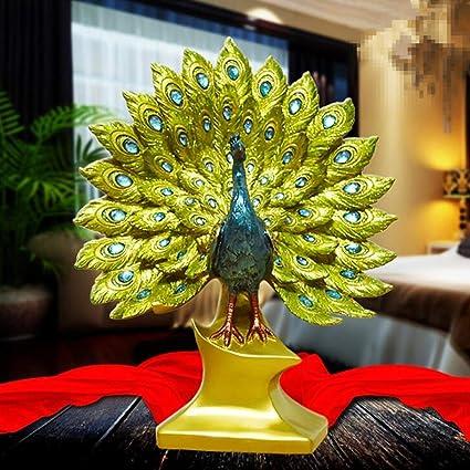 Amazon Com Katoot Resin Peacock Figurines Miniatures Resin Peacock