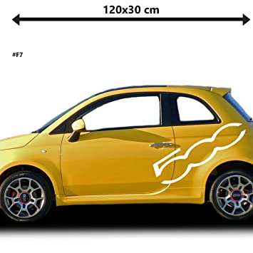 Fiat 500 Abarth Racing Side Stickers Graphics Decals Car Stickers