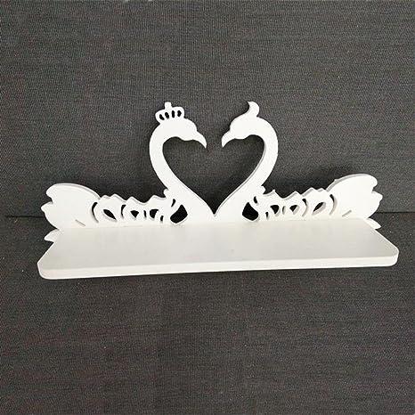 GYP Weißes Holz Plastik geschnitzte Schwan Wand Mount Hochzeit Geschenk Pylon Wandhalterung kaufen ( Farbe : #1 )