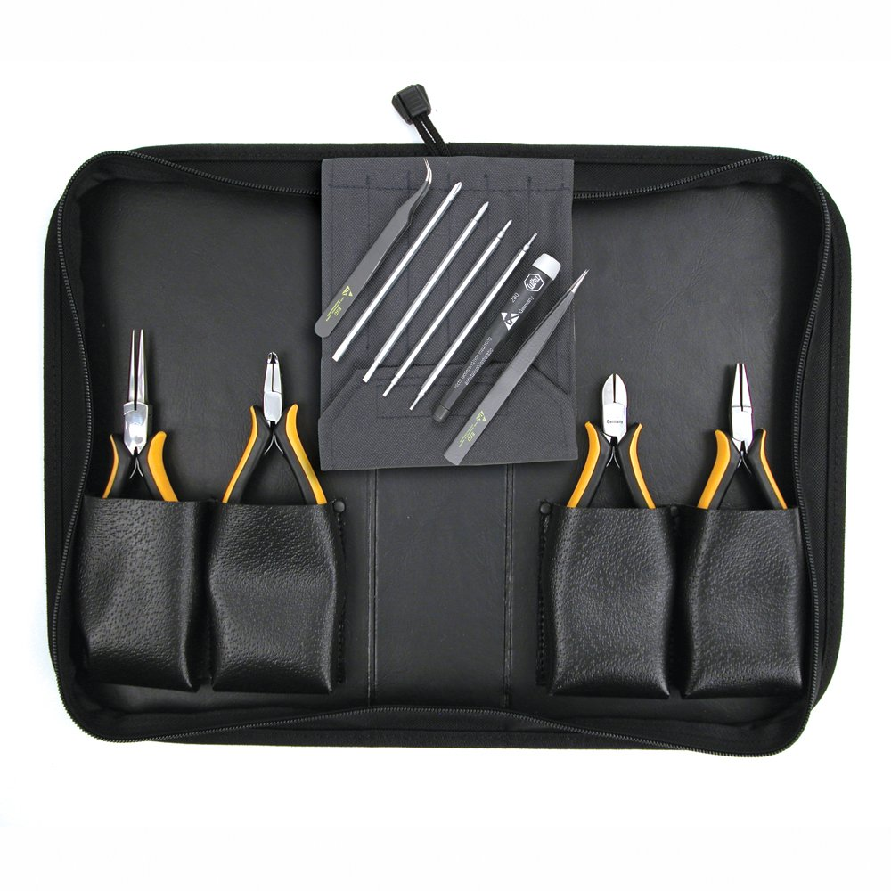 Wiha 32791 Pliers, Slotted and Phillips Screwdriver and Tweezerss Set, ESD Safe, 11 Piece by Wiha B000T9ZP34