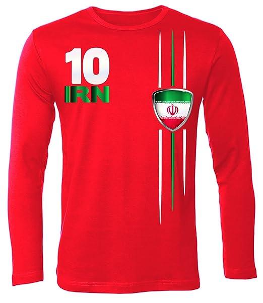 Copa del Mundo de fútbol - Campeonato de Europa de Fútbol - IRAN hombre manga Larga camiseta Tamaño S to XXL varios colores: Amazon.es: Ropa y accesorios