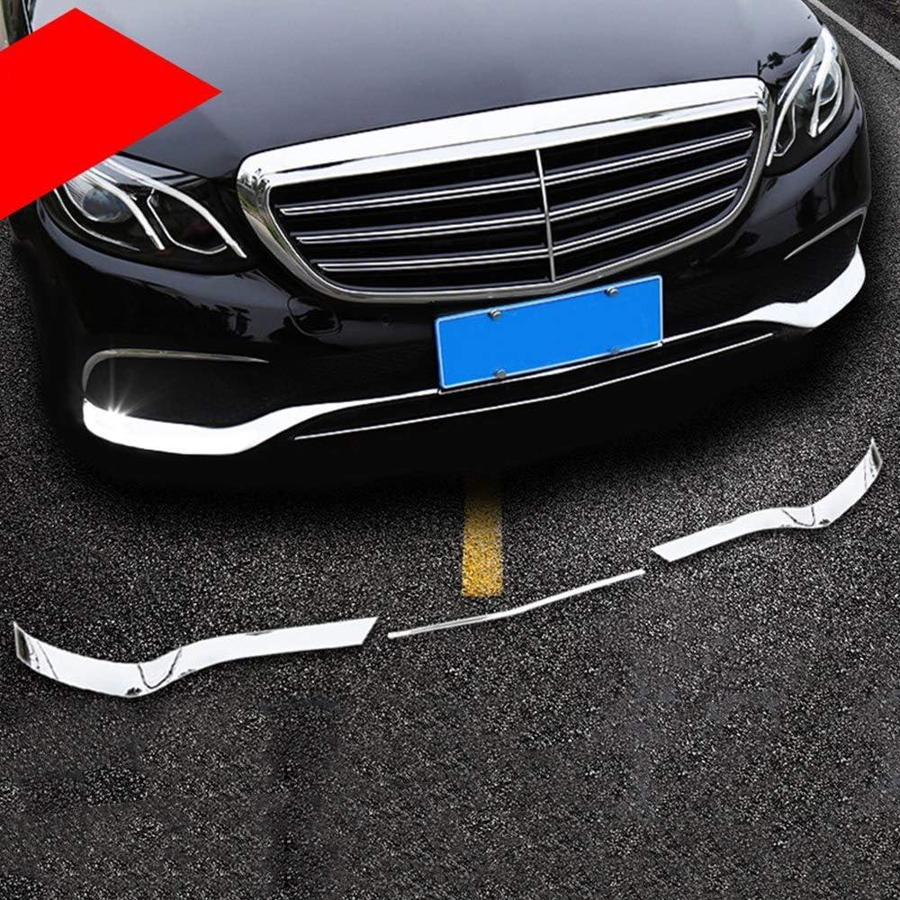 Nrpfell f/ür Mercedes E Klasse W213 2016-2019 Chrom ABS Front STO? stangen Platte Spoiler Spoiler Dekorative Abdeckblende