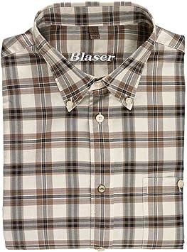Blaser Emil sarga Camisa Caza Camisa Exteriores de camisa cuadros, color marrón, color Beige y marrón, tamaño xx-large: Amazon.es: Deportes y aire libre