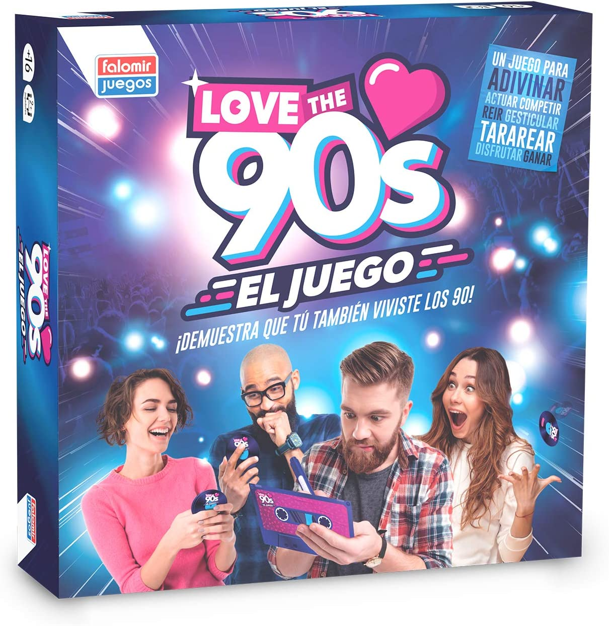 Falomir 90´S Love The 90s, Juego de Mesa, Family & Friends, Color ...