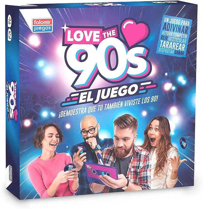 Falomir 90´S Love The 90s, Juego de Mesa, Family & Friends, Color Azul, 27x27x6.5 (1): Amazon.es: Juguetes y juegos