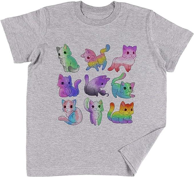Vendax Orgullo Gatos Niños Chicos Chicas Unisexo Camiseta Gris: Amazon.es: Ropa y accesorios