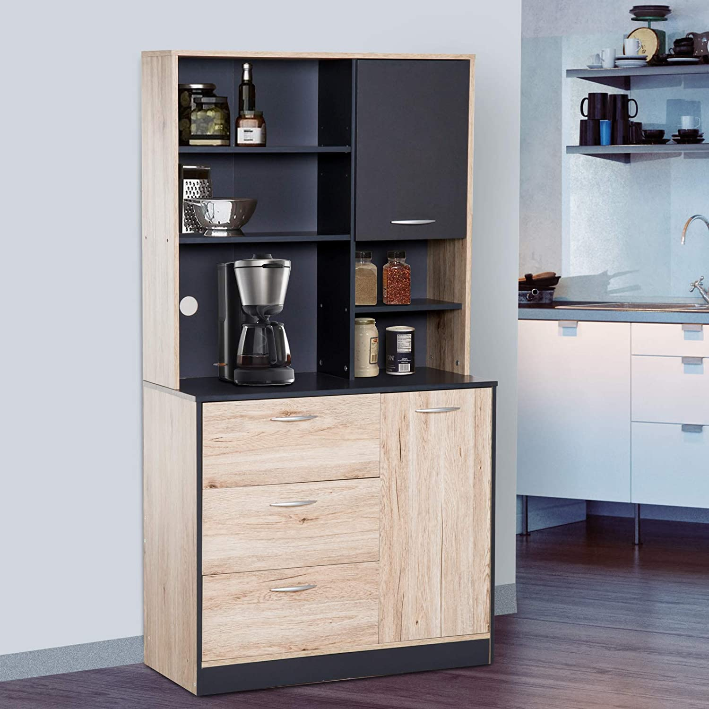 Homcom 67 Modern Freestanding Kitchen Buffet Cabinet With