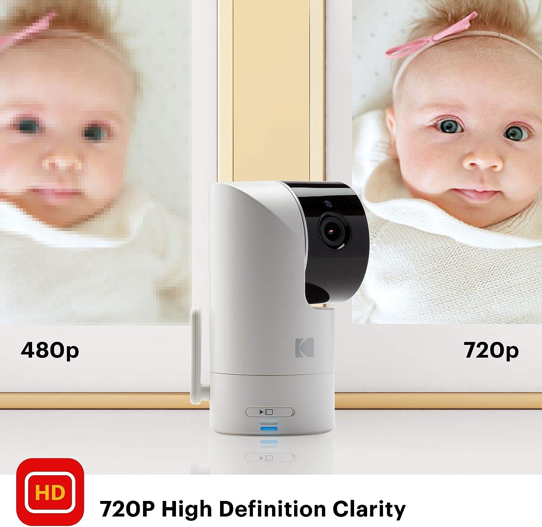 haute r/ésolution audio bidirectionnel /écran HD de 2.8 longue port/ée Moniteur b/éb/é vid/éo KODAK Cherish C225 avec app mobile Cam/éra WiFi avec pano//pivoter//zoomer /à distance vision nocturne