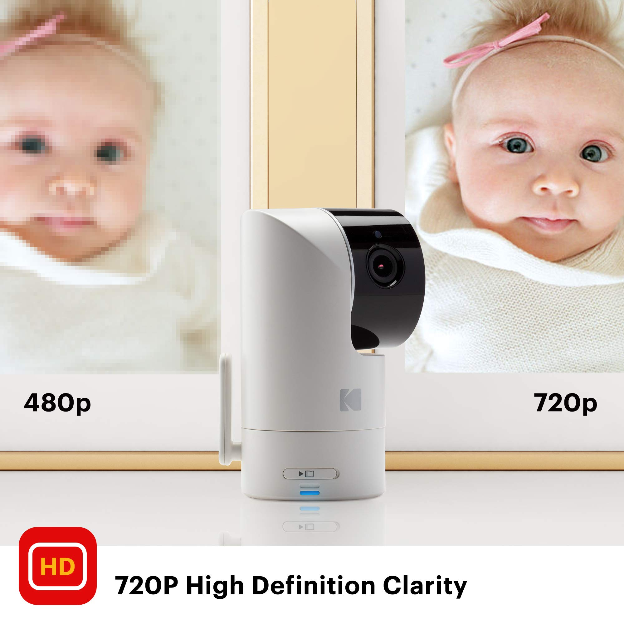 KODAK Cherish C525 Video Baby Monitor + C125 Additional Camera - with Mobile App - 5'' HD Screen - Hi-res Baby Camera with Remote Tilt, Pan and Zoom Two-Way Audio, Night-Vision, Long Range by Kodak (Image #7)