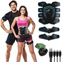 ROOTOK Electroestimulador Muscular Abdominal estimulador Abdominal estimulador Muscular para Abdomen/Cintura/Pierna…