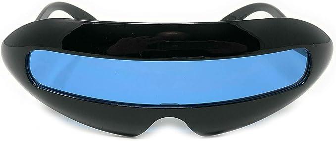 10//set Mirrored Narrow Futuristic  Sunglasses Glasses Party Costume