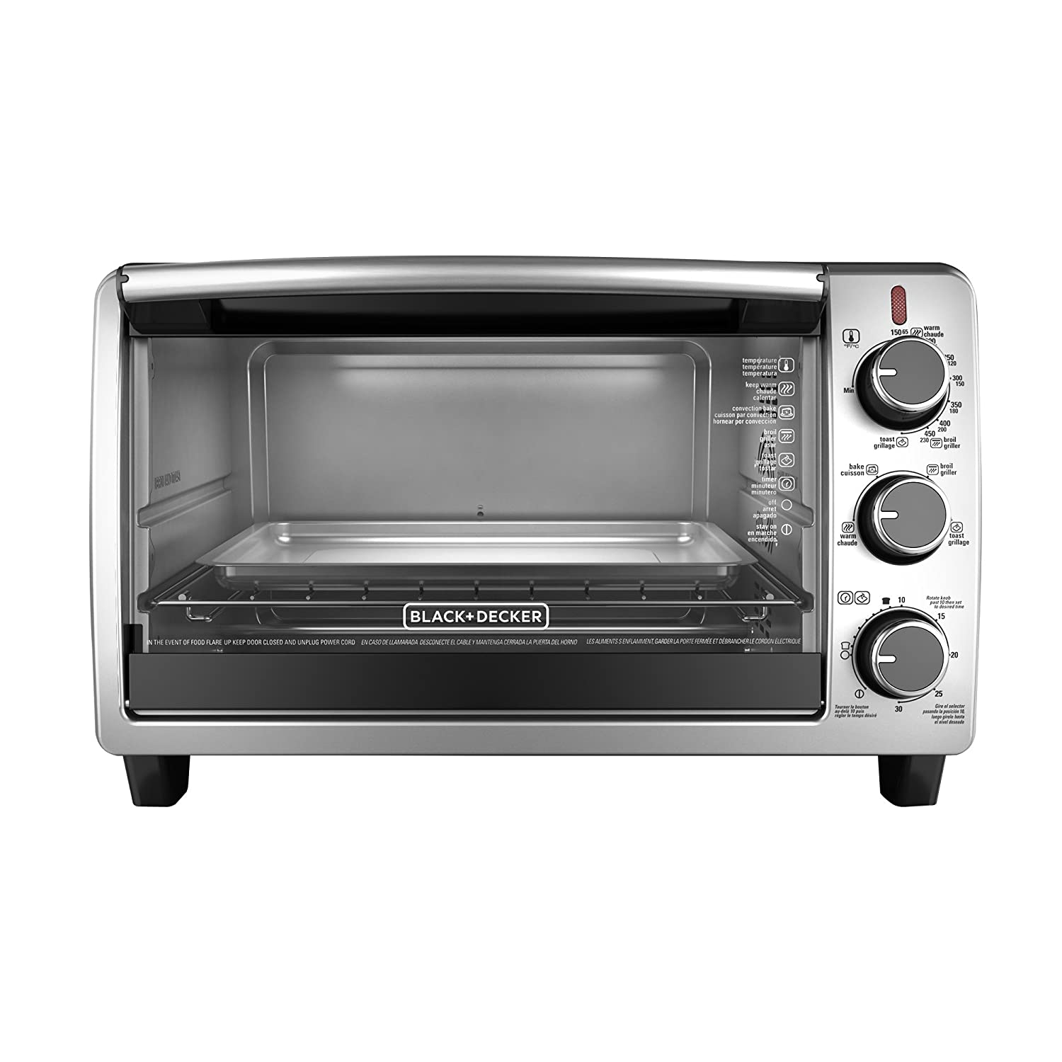 amazoncom blackdecker tosbd slice convection countertop  - amazoncom blackdecker tosbd slice convection countertop toasteroven includes bake pan broil rack  toasting rack stainless steelblack