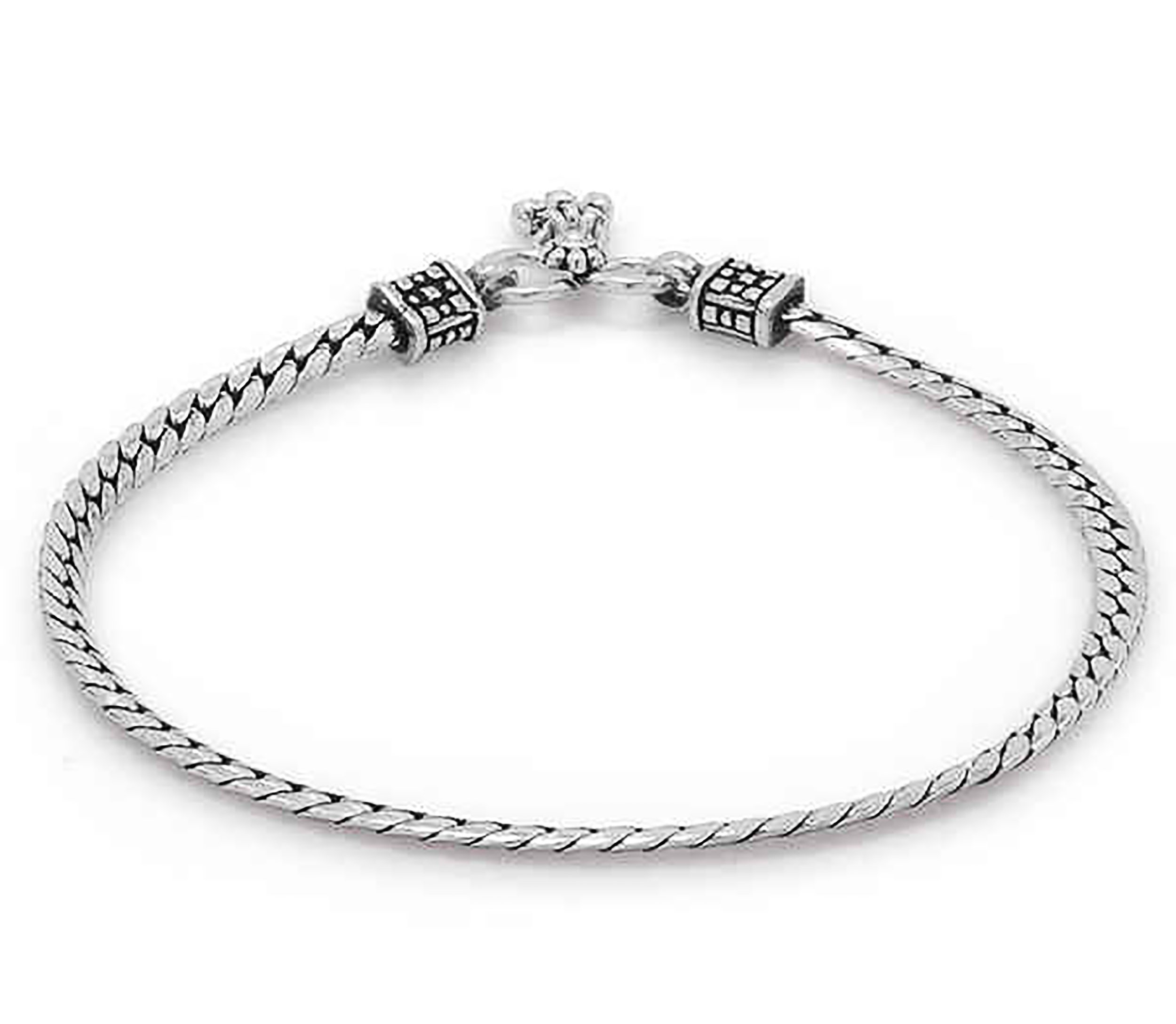 D&D Crafts Sterling Silver Link Anklets for Women For Girls, Women by D&D (Image #2)